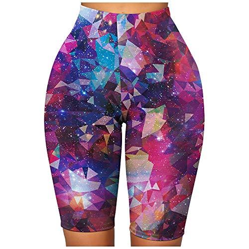 TIK Tok Leggings for Women Scrunch Butt Shorts High Waist Yoga Pants Butt Lift Tummy Control Workout Athletic Tights Purple