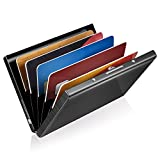 Rosso GreatShield Portafoglio di Blocco RFID 8 Slot   Alluminio Titolare della Carta di Protezione dellidentit/à