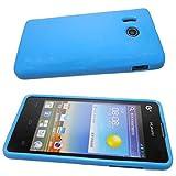 caseroxx TPU-Hülle für Huawei Ascend Y300, Handy Hülle Tasche (TPU-Hülle in blau)