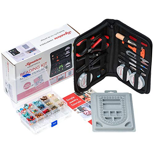 The Ultimate Beading Set & Jewelry Making Kit for Adults, Complete Supplies Set with Beads, Tools,...