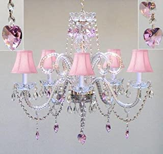 Amazon.com: Crystal - Pink / Chandeliers / Ceiling Lights ...