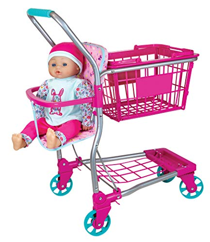 """Lissi Shopping Cart with 16"""" Baby Doll"""