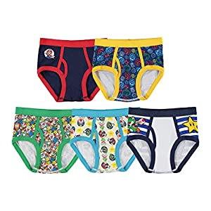 Nintendo Boys' Mario 5 Pack Briefs