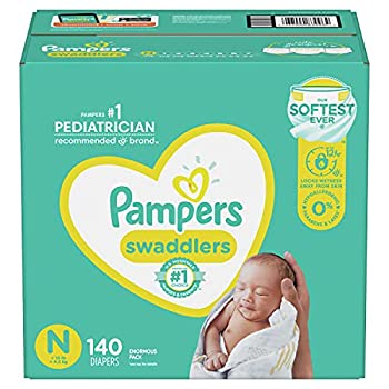 Diapers Newborn/Size 0  < 10 lb  140 Count - Pampers Swaddlers Disposable Baby Diapers Enormous Pack  Packaging May Vary