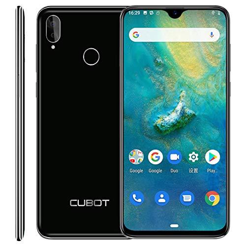CUBOT R15 Pro 4G SIM Free Moible Phone, 6.2-Inch Dewdrop Full-screen Smartphone Unlocked, Android 9.0, 4G Dual SIM, 3GB RAM +32GB ROM, Fingerprint Sensor, Face ID, 3000mAh Battery, UK Version-Black
