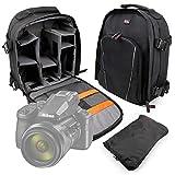 DURAGADGET Mochila Resistente Al Agua + Funda Impermeable Compatible con Cámara Nikon Coolpix P950, Nikon D780, Canon EOS-1D X Mark III