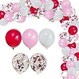 Globos Rosa, JPYZ 52PCS Kit de Guirnalda de Globos ,Globos de Confeti, Globos de Fiesta para Bodas, decoración de cumpleaños, día de San Valentín