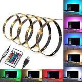Kohree Ruban LED RGB Bandeaux LED Flexible Bande lumineuse Lumière Ambiance USB Multicouleur avec Télécommande Rétroéclairage...