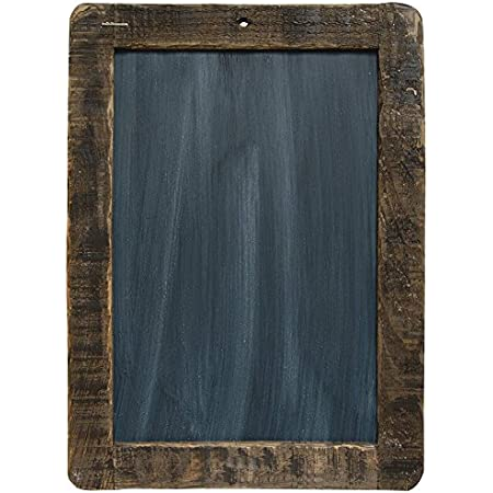 Amazon Com Cwi Gifts Large Distressed Slate Blackboard With Stained Wooden Frame 8 5 X 12 5 Inches