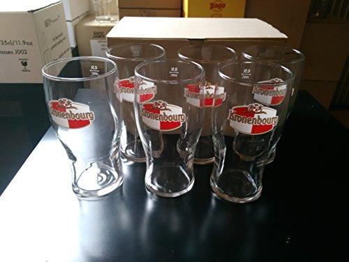 Lot de 6 Verre a biere kronenbourg pinte 0.50cl