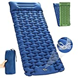 Camping Sleeping Pad, WEREWOLVES Connectable Sleeping Mat, Upgraded Extra Width &Thickness,Waterproof,Comfortable, Lightweight Camping Air Mattress Great for Tent, Backpacking, Hiking