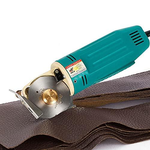 Cortadora de tela redonda, 70 mm, industrial, cortadora rotativa eléctrica, mini cortadora de tela eléctrica, manual para papel textil y piel