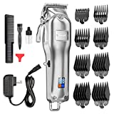Nicewell Hair Clippers Men Hair Trimmer Cordless Home and Professional Barber Clippers Hair Cutting Kit, with 8-piece Guards Guides