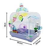 DZL jaula para hamster29.5X29.5X38CM) color...
