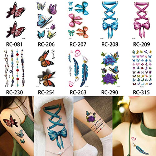adgkitb Tatuaje Temporal Pegatina Arte Impermeable Halloween Tatuaje Lindo 10.5x6cm