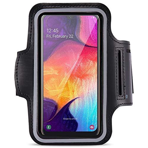 Jogging Tasche kompatibel für Samsung Galaxy A50 Handy Hülle Sport Lauf Armband Fitnesstasche