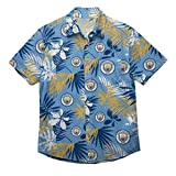 Club de fútbol tropical manga corta con botones de verano floral camisa Premier League, Manchester City F.C., medium