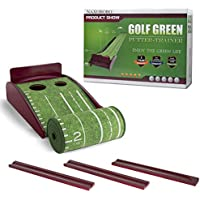 Putting Mat Golf Green Indoor and Outdoor with Auto Ball Return