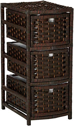 Oriental Furniture 25 Natural Fiber Occasional Chest of Drawers - Mocha