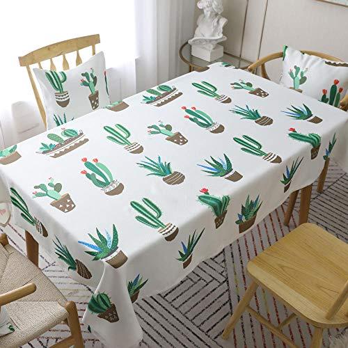 Alayth tafelkleed, tuintafel, wasbaar, groene planten, tafelkleed, salontafelkleed, cactusprints
