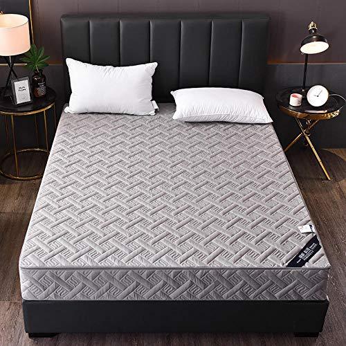 HPPSLT colchón Acolchado, antialérgico antiácaros, Sábana Pure Color Todo Incluido Hotel-Grey_120 * 200cm
