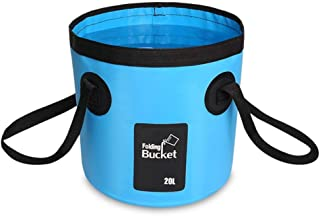 AINAAN Multifunctional Collapsible Portable Outdoor Basin Folding Bucket Water Storage Bag for Camping Hiking Travel Fishi...
