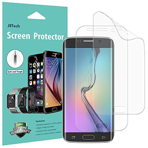 JETech Schutzfolie für Samsung Galaxy S6 Edge, TPE HD Displayschutzfolie, 2 Stück