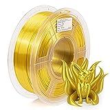 IEMAI Seide 3D Drucker Filament, PLA Filament 1,75 mm, Seide Gold, Maßgenauigkeit +/- 0.02mm, 1 kg Spule Silk Filament für 3D Drucker