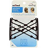 Scunci Braided Upzing Double Combs, Black or Brown (1-Unit)