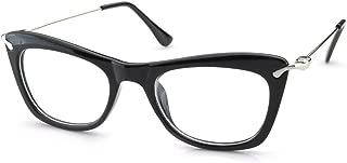 Womens Thick Cat Eye Edgy Retro Eyewear Eyeglasses Frames