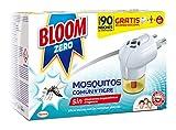 Bloom Zero Electrico Líquido contra mosquitos común y tigre Aparato + 2 Recambios