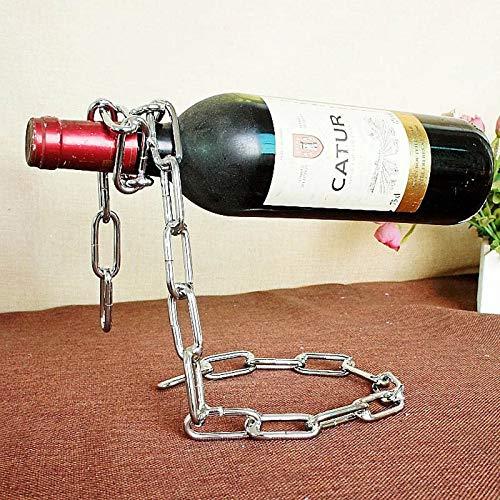 Periste Tenedor de vino de metal Vintage Creativo Truco Vagrante Cadena Vid Holder Vidrio Botella de vidrio Pantalla Botellas de cerveza Botellas Estante Barras Accesorios Bastidor de botellas de barr