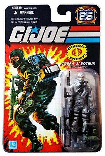 G.I. Joe 25th Anniversary: Firefly (Cobra Saboteur) 3.75 Inch Action Figure