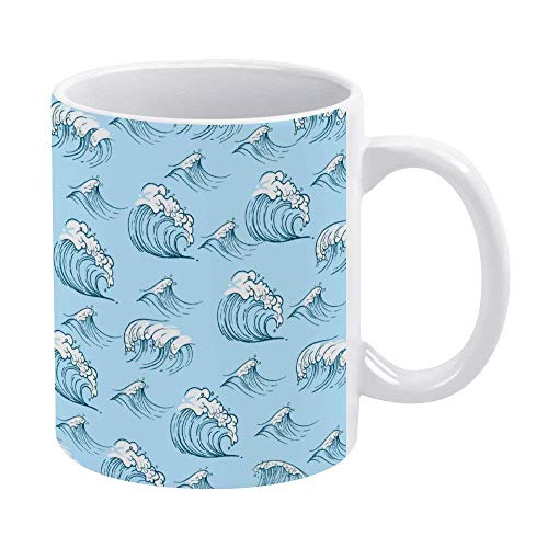 Abstract Wave - Taza de café para hombre, niño, marido, papá, abuelo