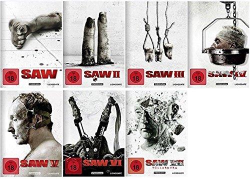 Saw Teil 4-7 Komplett / DVD [Teil 7 DVD+Blu-ray] Set Mediabook Edition Teil 4+5+6+7 - Limited
