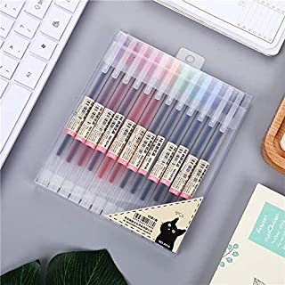 Japanese Style Gel Ink Pen 0.5mm Colorful Fine Ballpoint Maker Pen for Office School Stationery Supply,Pack of 12, Assorted Colors