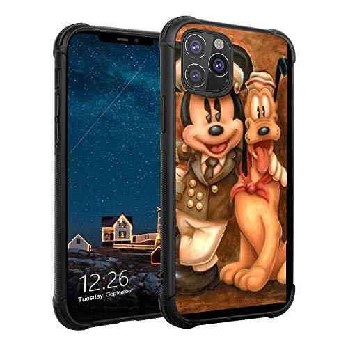 DISNEY COLLECTION Funda de teléfono para iPhone 11 Pro Max Absorción TPU resistente a prueba de golpes con Mickey y su perro