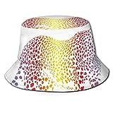 SDFRG Cappello da Spiaggia Estivo Cappello da Pescatore Ghepardo Arcobaleno Colorato Fumaiolo Cammuffamento Realsitico Animale Safari Fauna Selvatica Cappello da Pescatore per Uomo e Donna