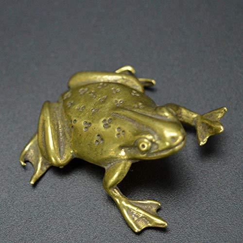 Alle koperen kikkers theehuis om te spelen handgrepen oude bronzen stukjes kleine stukjes antieke display koperen kikker collectie schattig nieuw