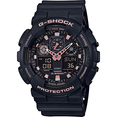 Casio G-SHOCK Orologio 20 BAR, Nero, Analogico - Digitale, Uomo, GA-100GBX-1A4ER