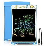 WOBEECO Tableta de Escritura LCD 10 Pulgadas Recargable| Tablet para niños | Ideal como Pizarra Digital para Aprender a Leer y Escribir | Juguete Educativo (Azul)