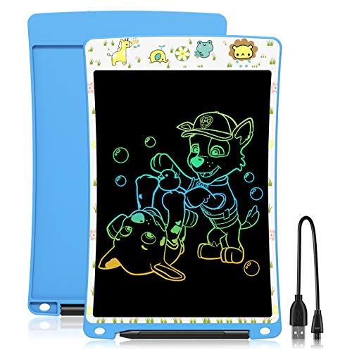WOBEECO LCD Schreibtafel 10 Zoll, Elektrische Maltafel für Kinder ab 3 Jahre, Blau