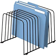 "Fellowes 72112 Desktop Organizer, 11 Sections, Wire, 9"" x 11-3/8"" x 8"", Black"