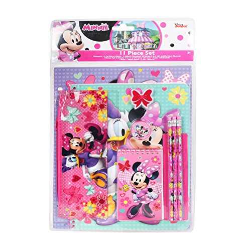 Disney Minnie Mouse Stationery Set School Supplies for Girls / 11 Pieces