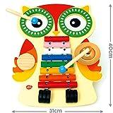 Bee Smart - Instrument de Musique - Table Musicale en bois - un xylophone, deux tambours, une cymbale et un guiro