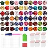 ZIIDOO 80000PCS Diamond Painting Beads,60 Colors Diamond Painting Diamonds for Nails Diamond Art Crafts