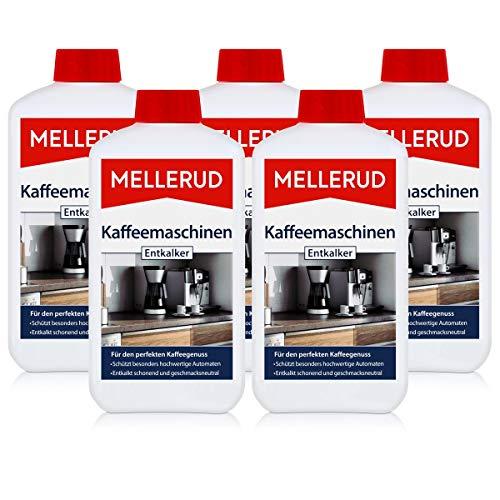 Mellerud Kaffeemaschinen Entkalker 500ml - Schützt besonders hochwertige Automaten - Entkalkt schonend und geschmacksneutral (5er Pack)