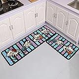 Alfombra de piso de cocina Home Entrada Felpudo Zapatero Alfombras Baño Alfombra antideslizante Dormitorio Armario Rectángulo Alfombra NO.6 40X60cm y 40X120cm