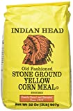Indian Head Old Fashioned Stone Ground Yellow Corn Meal (2 Pack) 2 Pound Bags