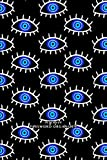 Evil Eye Hamsa Charm Password Book Symbol Curse Protection Good Luck Lucky Blue on Back: Discreet internet password organizer logbook personal keeper ... tabs gifts for adults women men coworker